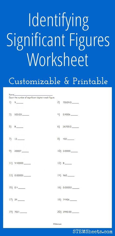 Significant Figures Worksheet Pdf Addition Practice Practices Worksheets Worksheet Template Math Practice Worksheets