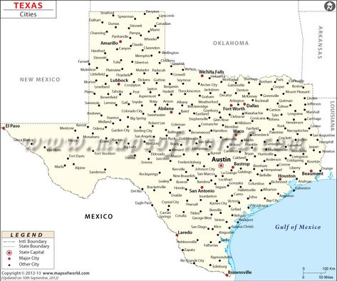 Texas Cities Map Texas Map With Cities Texas Map Texas City