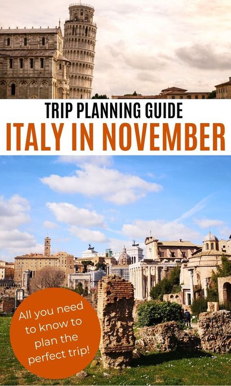 Italy in November: trip planning guide