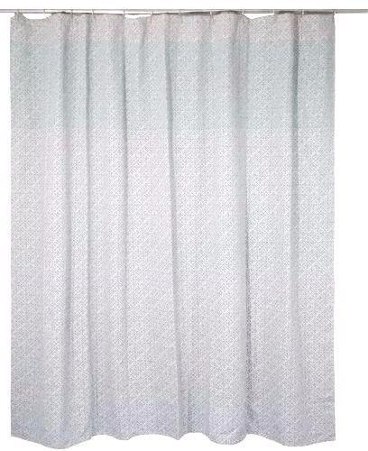 NWOT Threshold Gray Green Geo Shower Curtain #Threshold #Traditional