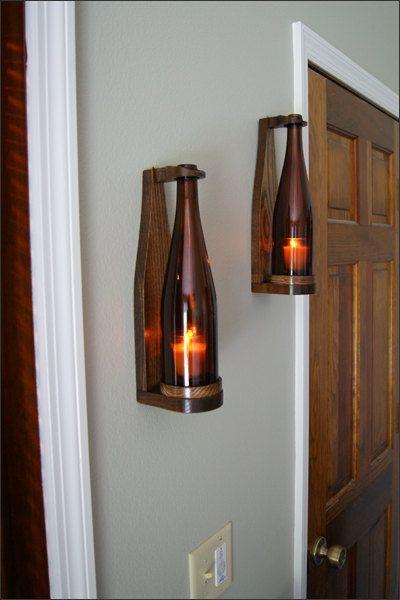 Wine Bottle Candles Bottle Candles Diy Home Decor Diy Lamp Bottles Decoration Elegant Wine Bottle Items Similar To Wo Wine Bottle Candles Decor Diy Lamp