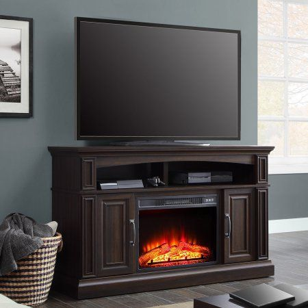 Free 2 Day Shipping Buy Whalen 55in Media Fireplace For Tvs Up To 60 Warm Ash Brown At Walmar Media Fireplace Electric Fireplace Tv Stand Fireplace Tv Stand