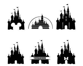 Black And White Disney Castle Tattoo