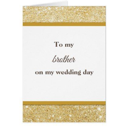 To my brother wedding thank you card - glitter gifts personalize ...