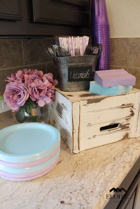 Shabby Chic Baby Shower Party Ideas   Photo 8 of 39   Catch My Party