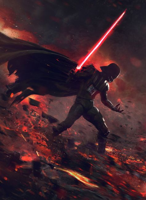 At the End of All Things - Star Wars fan art by Guillem H. Pongiluppi