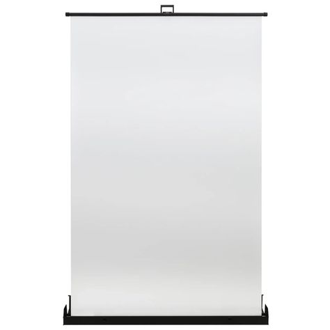 """Photography Backdrop White 95"""" 4:3 The photography backdrop is perfect for portrait photography and other commercial photography projects. The background screen is made of non-woven fabric and aluminium housing, making it strong and durable. The aluminium gas lift mechanism allows the studio background to be pulled out easily. Thanks to the lightweight construction, it is portable and easy to transport. The screen can be manually pulled from the case. Additionally, when not in use, the supportin"""