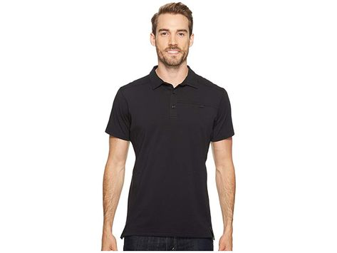a17e53e3 Arc'teryx Captive Polo S/S (Black) Men's Short Sleeve Pullover. When you're  in the thrall of the trail your gear should reflect it.