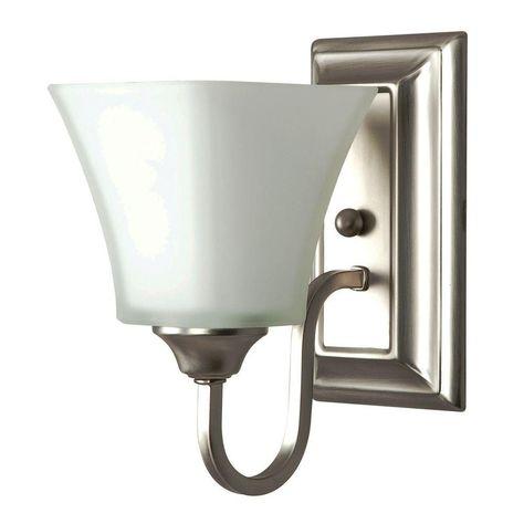 Luminance Square Lexington 1 Light Satin Nickel Wall Sconce Sconces Wall Sconces Bathroom Wall Sconces
