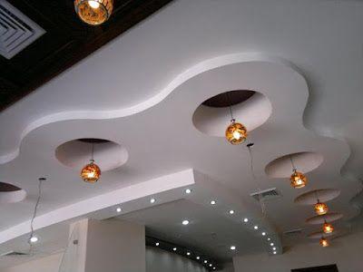 ديكورات زخرفة جبس للمقاهي Modern Home Interior Design Ceiling Design Home Interior Design