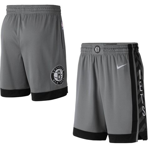 Brooklyn Nets Nike 2019 20 Alternate Swingman Shorts Statement Edition Charcoal Brooklynnets Elite Shorts Brooklyn Nets Shorts