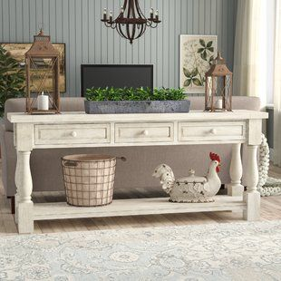 Cottage Country Console Tables You Ll Love Wayfair Sofa Table Decor Farm House Living Room Home Decor