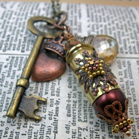 The Copper PrincessSteampunk Inspired Mixed Metal by TagsandTiles, $32.00
