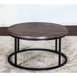 Akbar Coffee Table Round Wood Coffee Table 3 Piece Coffee Table