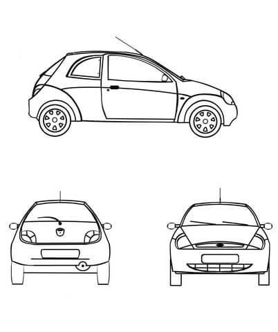Ford Fiesta Da Colorare