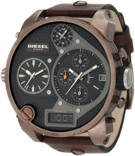 7fe7863f0cd3 Diesel Men s DZ7246 Master Brigade Brown Watch  Watches  Amazon.com ...