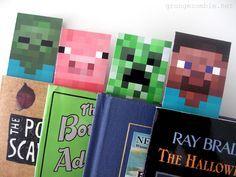Printable Minecraft Bookmarks Grungezombie Net Minecraft Crafts Minecraft Printables Free Minecraft Printables