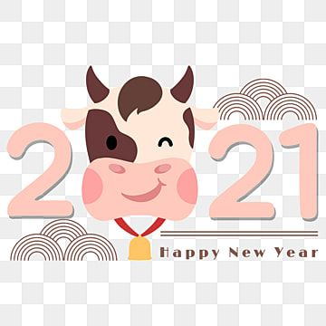 Chinese New Year 2021 New Year Cartoon Pink Cow 2021 Cow Creativity Png Transparent Clipart Image And Psd File For Free Download Year Of The Cow New Year Cartoon Happy New Year Fireworks