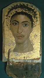 Fayoum young male portrait 130-50 AD