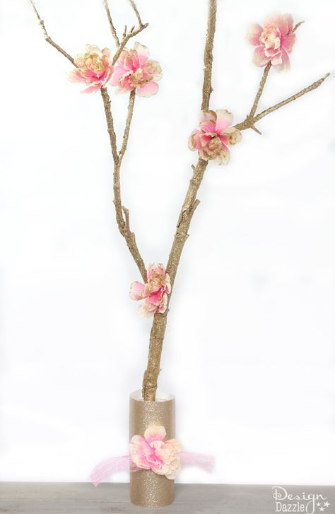 DIY Glittered Fairy Branch