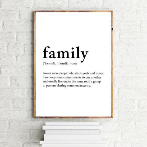 Family definition | Poster definition | family meaning | family wall art | Family print | definition print 70x100, 50x70, A4, 24x36""