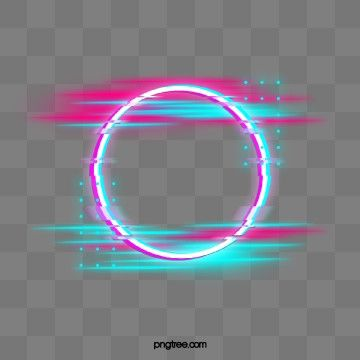 Blue Red Fault Neon Round Border Photo Holographic Circular Png Transparent Clipart Image And Psd File For Free Download Frame Border Design Neon Png Graphic Design Background Templates