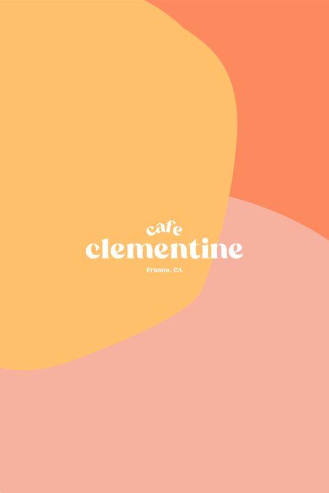 cafe clementine bright summer branding design by Rachael Loerwald