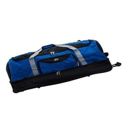 Rockland Luggage 40 Drop Bottom Rolling Duffel Bag Navy Rolling Duffle Bag Rockland Luggage Duffel