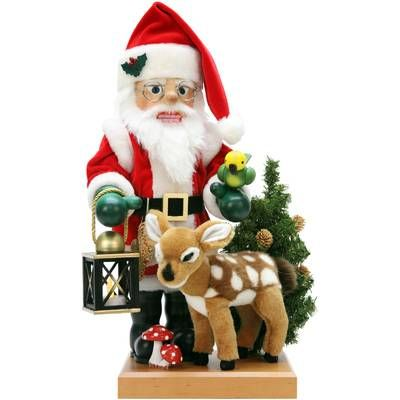 Christian Ulbricht Santa and Bambi Nutcracker