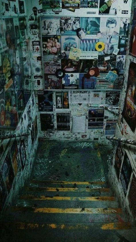 Creepy Grunge Stairway