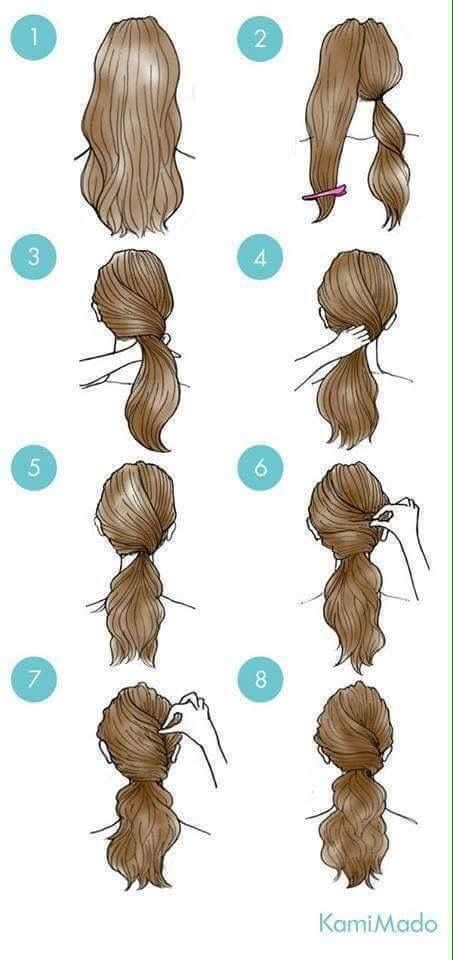 29 simple and easy ways to tie up your hair ^_____^   Long ...