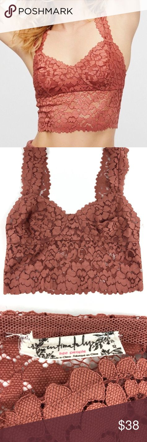 875fd85e26 NEW XS Free People Terra Cotta Floral Bralette Brand New Without Tags Free  People Tank Top