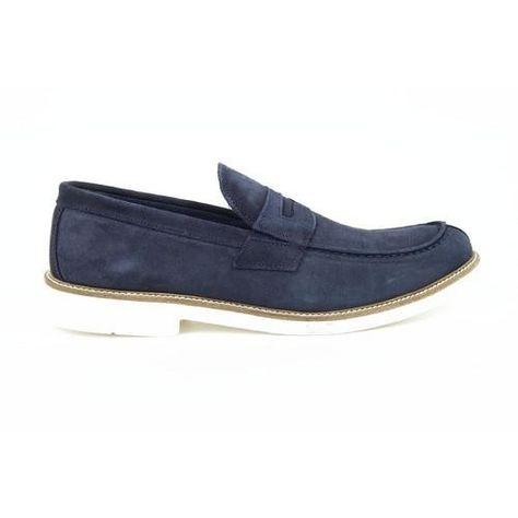 Versace 19.69 Abbigliamento Sportivo Milano mens loafers 908A CAMOSCIO BLU