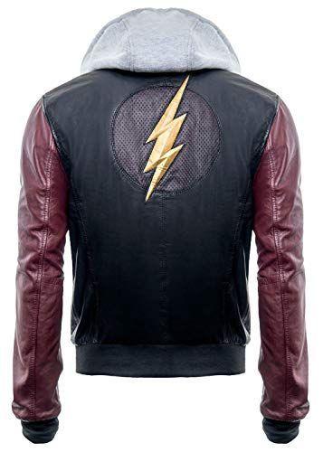NUOVO Batman Logo felpa con cappuccio Uomo Hood Brando Stile Biker Reale Giacca in Vera Pelle
