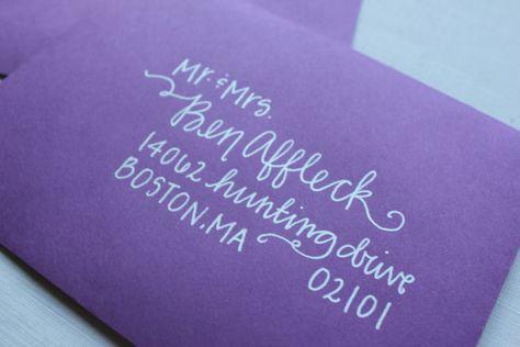 Handwritten Wedding Calligraphy #invitation #handwriting #printing #addressingenvelopes