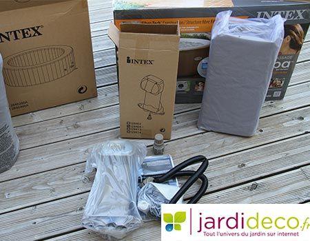 Panneau De Controle Du Spa Sorti De Son Emballage Spa Gonflable