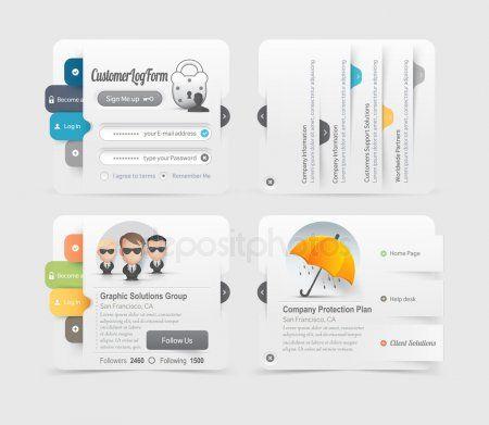 Web Site Design Menu Navigation Elements With Icons Set Stock Vector Ad Menu Navigation D Web Template Design Website Template Design Website Design