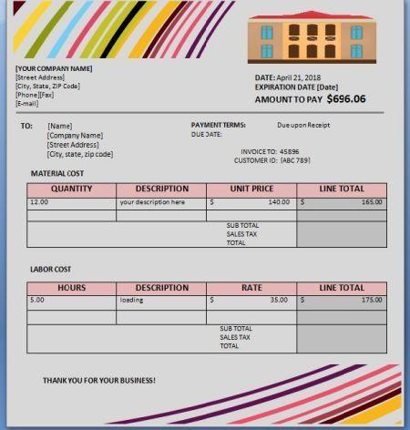 Home Repair Invoice Template 8 Amazing Free Editable Templates Template Sumo Invoice Template Home Repair Templates