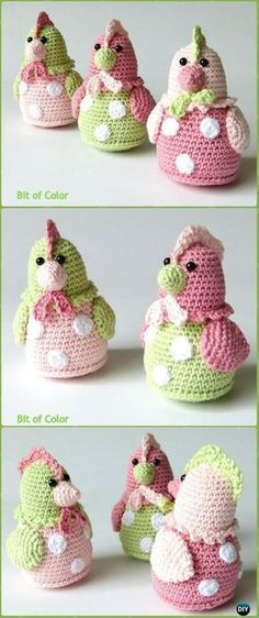 Chickens Kipje Amigurumi Free Pattern | Easter crochet patterns ... | 562x236