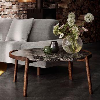 Mix Table Basse En Bois Teinte Wenge Plateau En Marbre Marron Table Basse Table Marbre Table Basse Design Italien