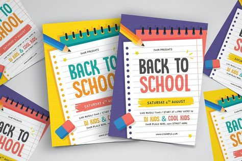Back To School Flyer Template AI, PSD