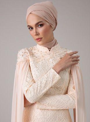 ليلكي نسيج مبطن قبة مدورة فساتين سهرة Muslim Evening Dresses Evening Dresses Muslim Fashion