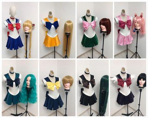 Sailor Moon Sailor Fuku costume + base wig