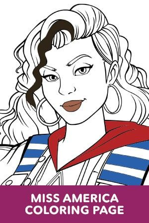 Miss America Coloring Page Coloring Pages Free Coloring Pages Coloring Pages For Kids