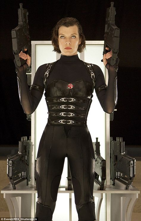 Action star: Milla, pictured in the 2012 film Resident Evil: