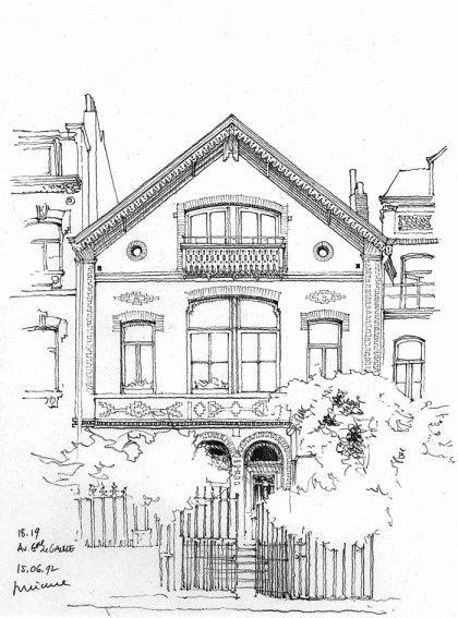컬러링 도안 어른을 위한 색칠공부 집 거리풍경 건축물 2 네이버 블로그 스케치 흑백 그림 풍경화