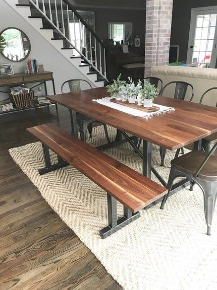 Pin On Wood Table Projects Farm table with metal legs