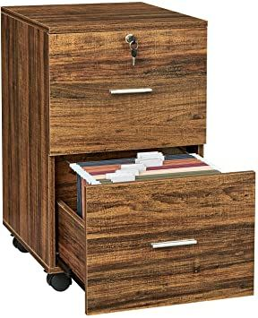 Greenforest 2 Drawer File Cabinet Wooden Vertical Filing Cabinet With Lock And Wheels For A4 Or Lette Filing Cabinet Hanging File Folders 2 Drawer File Cabinet