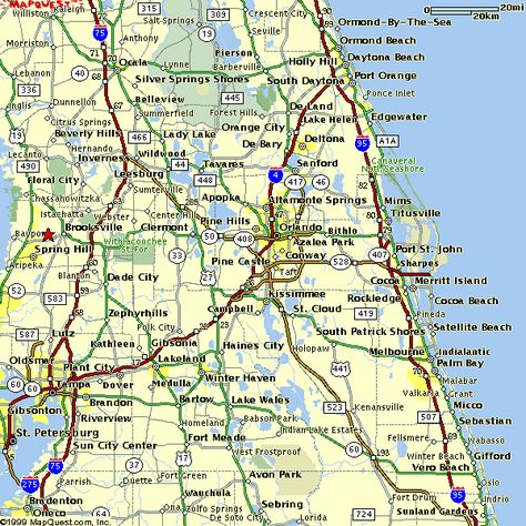 Map of Central Florida - Bing Images | Florida! | Map of ...