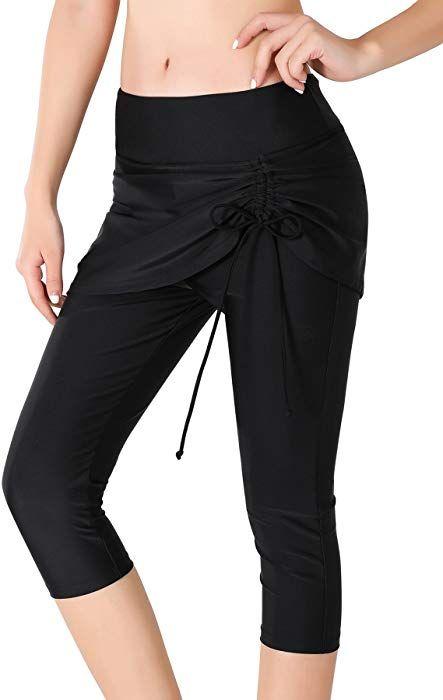 9b20f9b6e3d8bc Pantalon Leggings de Bain Femme avec Jupette Bas de Maillot de bain ...